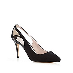 Faith - Black 'Caitlin' cut out court shoes