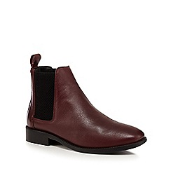 Faith - Dark red 'Binky' Chelsea boots