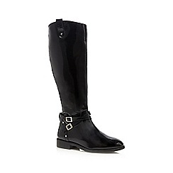 Faith - Black patent 'Millie' calf length boots