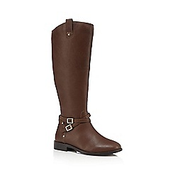 Faith - Tan 'Millie' calf length boots