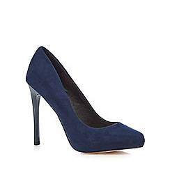 Faith - Navy 'Candy' high stiletto heel court shoes
