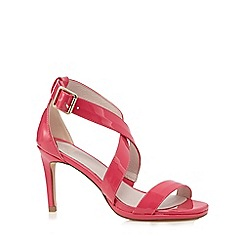 Faith - Pink patent 'Daisy' crossover sandals