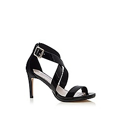 Faith - Black patent 'Daisy' high stiletto heel ankle strap sandals