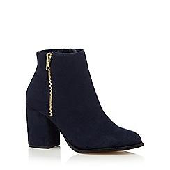 Faith - Navy 'Belinda' high block heel ankle boots