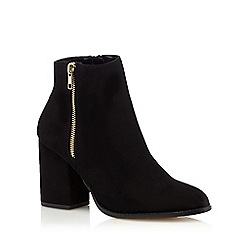 Faith - Black 'Belinda' high block heel ankle boots