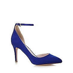 Faith - Blue 'Cady' high pointed court shoes