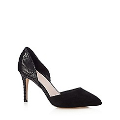 Faith - Black 'Casey' snake-effect court shoes