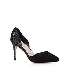Faith - Black 'Casey' snake-effect court shoes