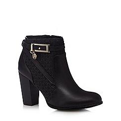 Faith - Black 'Brooke' high block heel ankle boots