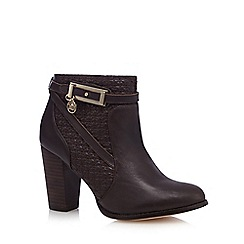 Faith - Brown 'Brooke' high block heel ankle boots