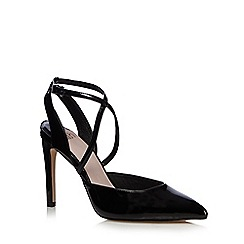 Faith - Black patent 'Cindy' high crossover sandals
