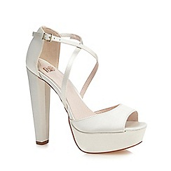 Faith - Ivory 'Daniella' high platform heel peep toe sandals