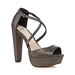 Faith - Dark grey 'Daniella' high sandals