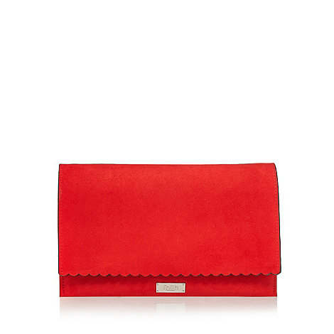 Faith - Red scalloped clutch bag