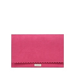 Faith - Pink scalloped clutch bag