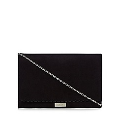 Faith - Black scalloped clutch bag