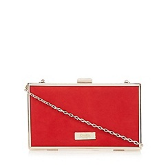 Faith - Red 'Piper' box clutch bag