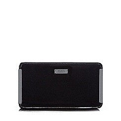 Faith - Black patent clutch bag