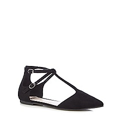 Faith - Black 'Amelia' T-bar shoes