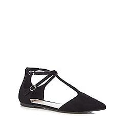 Faith - Black 'Amelia' T-bar shoes