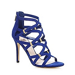 Faith - Blue 'Dakota' caged high sandals