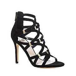 Faith - Black 'Dakota' caged high sandals