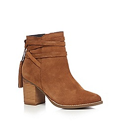 Faith - Tan 'Blondie' high heel ankle boots