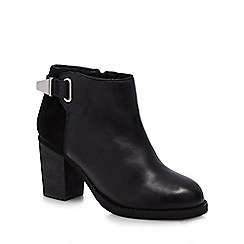 Faith - Black 'Betty' blocked high heeled ankle boots