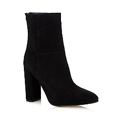 Faith - Black 'Britney' high block heel ankle boots