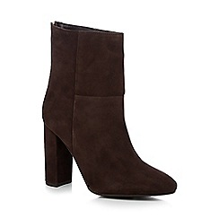 Faith - Brown 'Britney' suede high ankle boots
