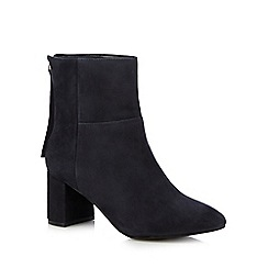Faith - Navy 'Bae' high block heel ankle boots