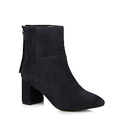 Faith - Navy 'Bae' high block heel boots