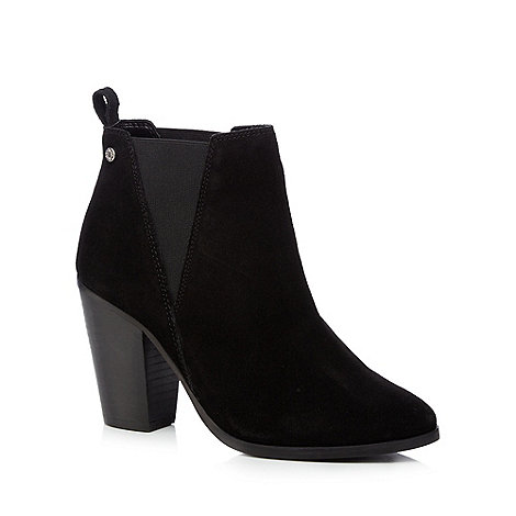 Faith - Black leather +Benny+ high block heel ankle boots