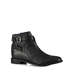 Faith - Black 'Brogan' leather ankle boots