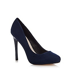 Faith - Navy 'Candy' high heel wide fit court shoes