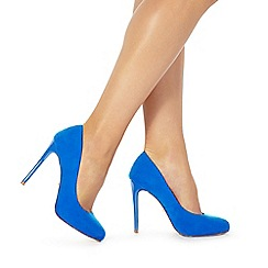 Faith - Bright blue 'Candy' high heel wide fit court shoes