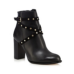 Faith - Black 'Billie' high studded ankle boots