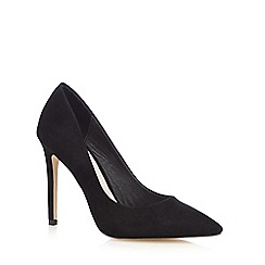 Faith - Black 'Chloe' wide fit court shoes
