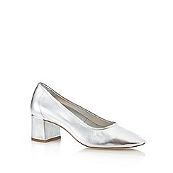 Faith - Silver 'Cassidy' mid heel shoes