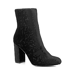 Faith - Black Velvet 'Baro' high ankle boots