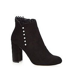 Faith - Black 'Button' high ankle boots