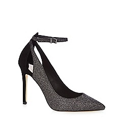 Faith - Grey glitter 'Claudia' high stiletto heel pointed shoes