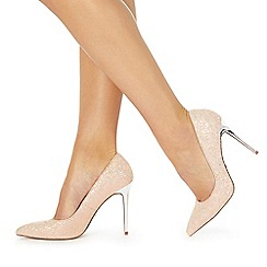 Faith - Pink 'Chloe Party' high stiletto heel pointed toe shoes