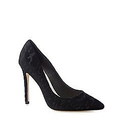 Faith - Black velvet 'Chloe Party' high court shoes