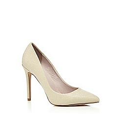 Faith - White glitter 'Chloe Party' high stiletto heel court shoes
