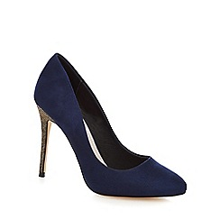 Faith - Navy 'Candice' high stiletto heel court shoes