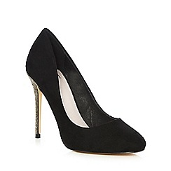 Faith - Black 'Candice' high stiletto heel court shoes