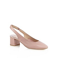 Faith - Pink leather sling back shoes