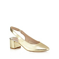 Faith - Gold leather sling back shoes