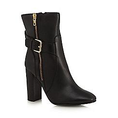 Faith - Black 'Beatrice' high buckle boots